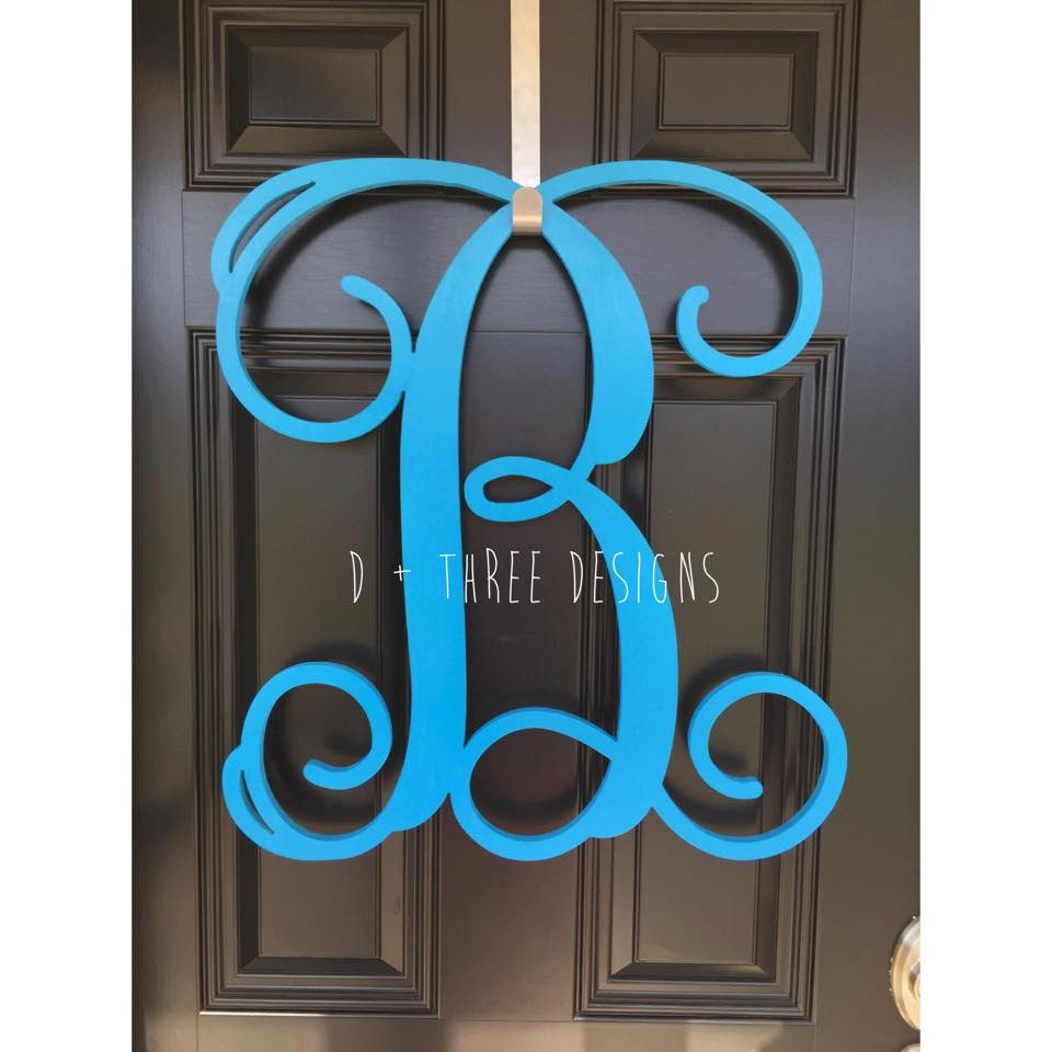 26 Inch Wooden Monogram Painted Wooden Letters Monogram