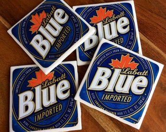 Labatt Blue Beer Coasters