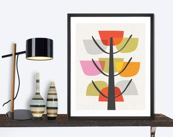 Abstract Tree Print, wall art home decor inspirational art wall decor modern poster