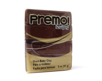 Premo Sculpey polymer clay burnt umber brown
