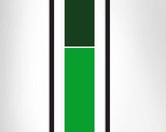 Deep green/Green flat stripes
