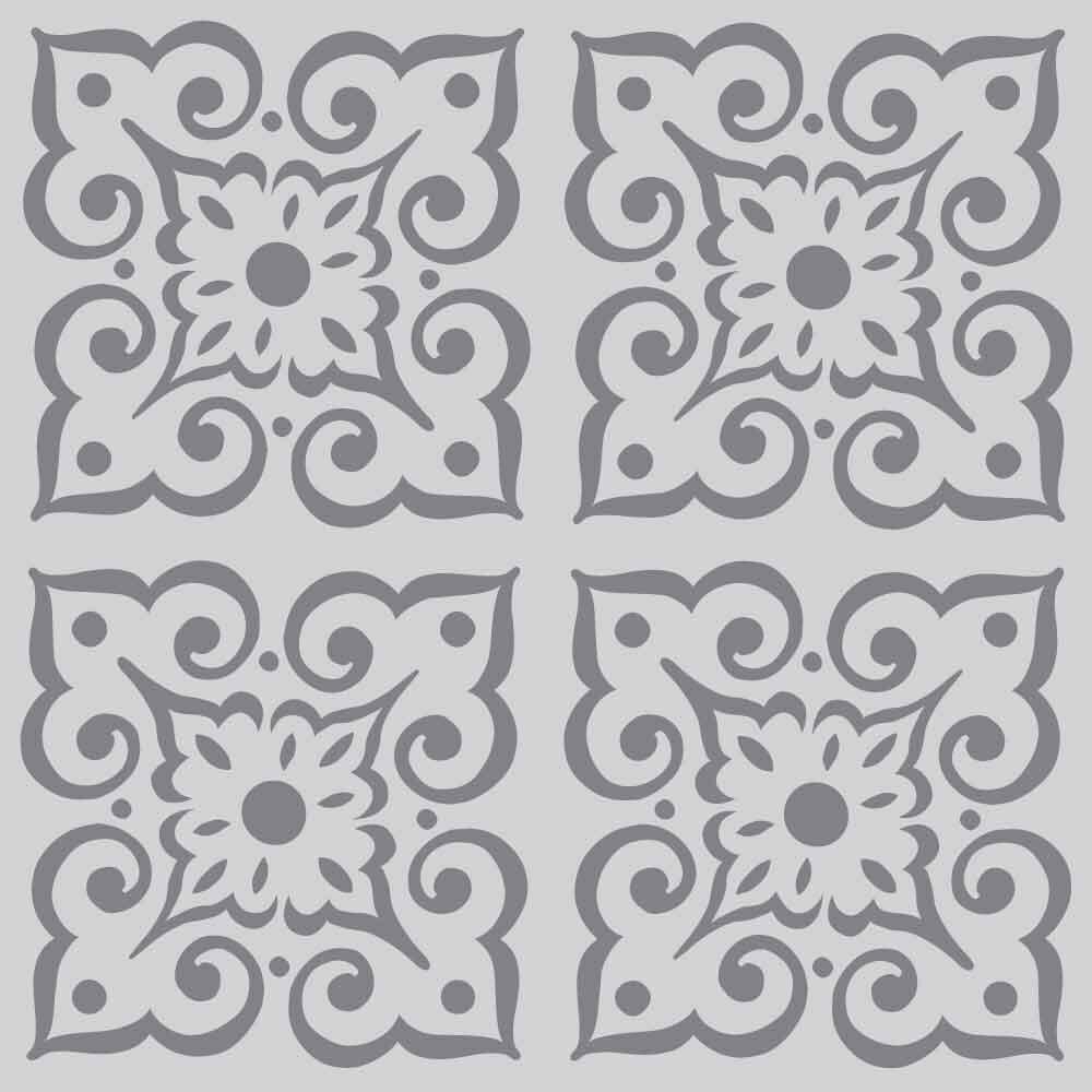 Wallflower design on 10mil laser cut stencil by - Moldes para pintar paredes ...