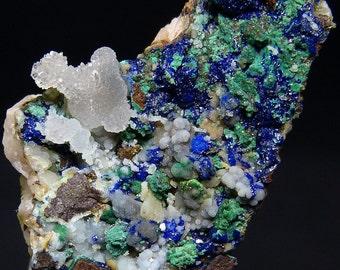 Smithsonite, Malachite, Azurite, Dolomite, Olivenite