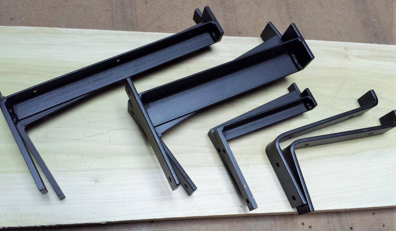 4 industrial heavy duty shelf bracket metal angle bracket. Black Bedroom Furniture Sets. Home Design Ideas