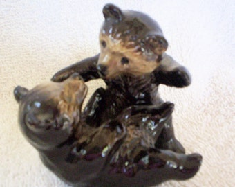 Vintage Bear Cubs Figurine, Goebel Playful Bear Cubs
