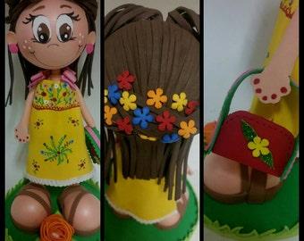Muñeca hecha a mano, arte muñecas, muñecas de colección, muñeca personalizada, Fofucha, Baby shower, regalo del bebé, primeros de la torta, regalo mamá, regalo