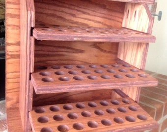 Wall hung Essential oil storage shelf 72 ct - finished