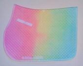 Tie Dye Saddlepad, Pastel Rainbow, Size: FULL