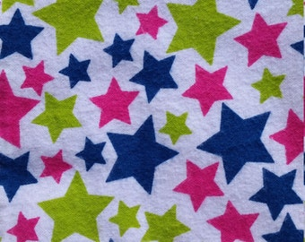 Baby Play Mat or Snuggle Blanket - Flannel - Stars