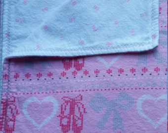 Baby Play Mat or Snuggle Blanket - Flannel - Ballerina