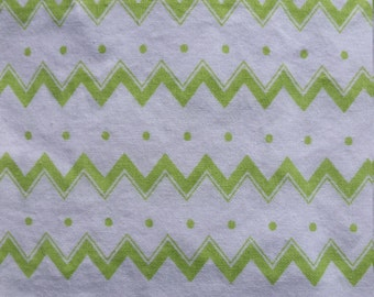 Baby Crib Sheet or Toddler Bed Sheet - Green and White