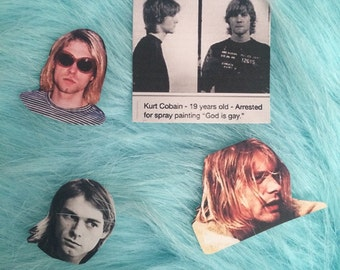 KURT COBAIN STICKERS