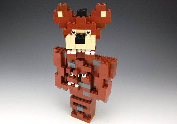 Lego five nights at freddy s 4 nightmare freddy by brickbum