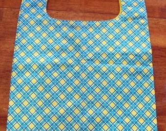 Reusable Grocery Bag - Blue/Yellow