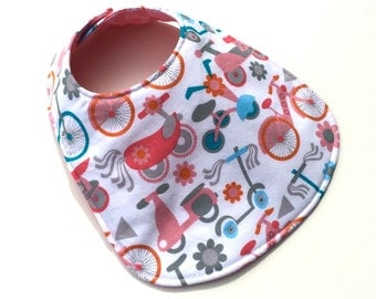 Reversible Baby Bib for Baby Girl