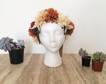 Autumn Sky Floral Crown