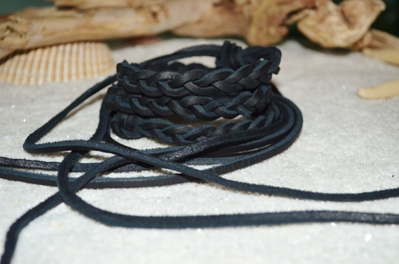 Belt Black Genuine Leather Thin Braided Tie Closure, Boho Leather Belt, Braided Leather Belt, Boho Black Leather Belt, Boho Braided Belt