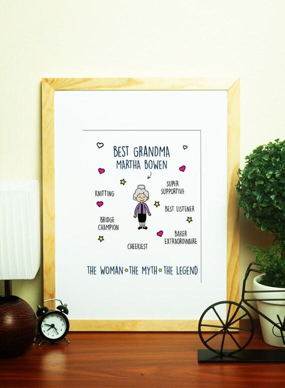 Popolare regalo personalizzato della nonna nonna festa della mamma KQ04