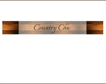 Rustic Wood Boards Shop Banner - Shabby Chic Shop Banner Design - Country Chic