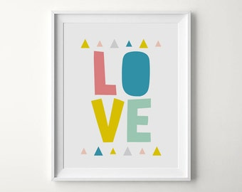 Love Print, Nursery Print, Love Typography, Love Printable, Love Poster, Love Quote, Nursery Wall Art, Love Sign, Love Nursery Decor