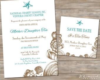 Event Wedding Nautical Beach Invitation