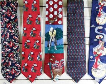 mens ties -  tie silk - vintage ties - mens neckties - silk tie - silk tie lot -