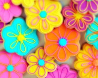 Flower Decorated Sugar Cookies