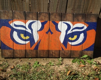 Reclaimed Wood Auburn Tigers Wall Art
