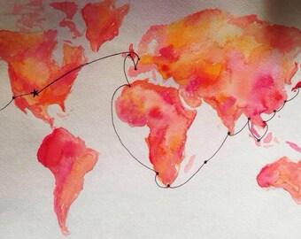 Semester at Sea Spring 2015 Voyage Map