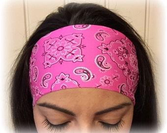 Pink Bandana - Non-slip athletic headband