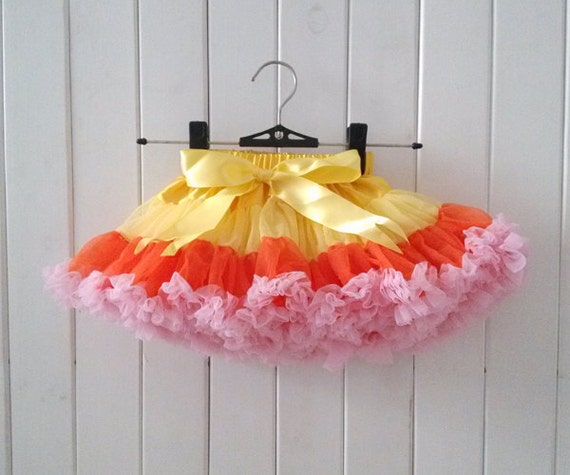 Yellow Orange And Pink Pettiskirts-Baby By Babycutelovely