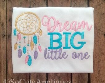 Embroidery design 5x7 Dream BIG little one Dream Catcher feathers Native American design,dream embroidery, OTT, feather, beautiful girl