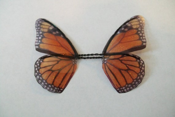 OOAK orange fairy butterfly wings H8