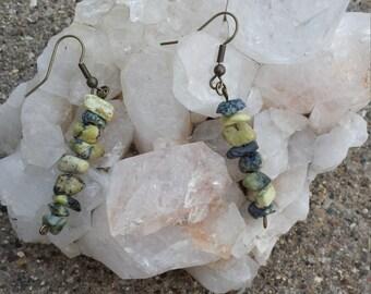 Yellow Turquoise Earrings