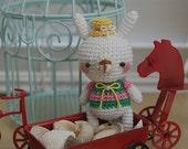 Amigurumi Mini Bunny with Yellow Hat