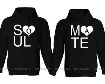 Couple Hoodie - Soul Mate -  Matching Love Hoodie