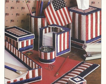 Plastic canvas pattern on etsy a global handmade and for Patriotic welcome home decorations