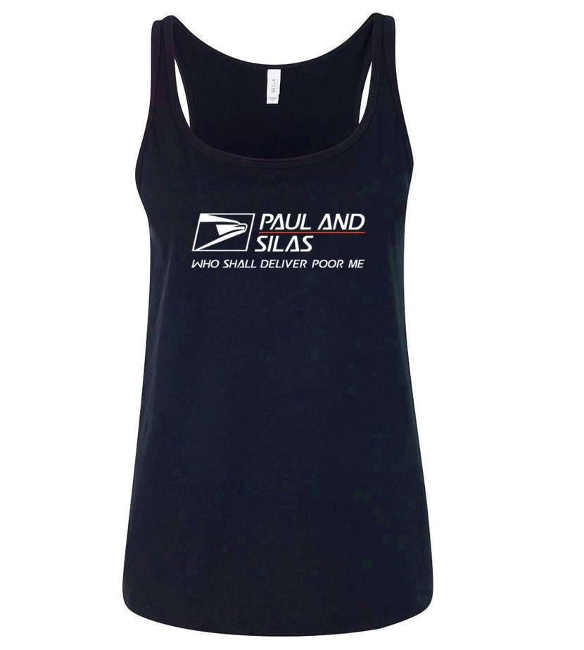 Paul and silas usps t shirt women 39 s bella by theoverheadview for Usps t shirt shipping