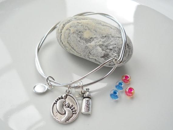 Alex And Ani Inspired Bracelet New Mom Silver By Alumebybonnie