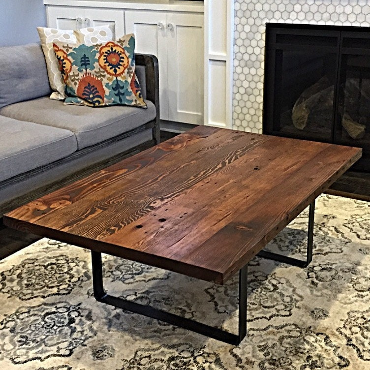 Reclaimed wood coffee table handmade in portland or for Reclaimed wood portland oregon