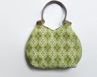 Gobelin tote bag, green shoulder bag, large handbag, gobelin handbag, trendy  tote bag, tapestry tote bag, tapestry handbag, upholstery bag