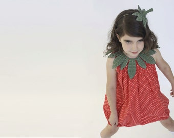 Halloween  strawberry costume, Halloween costume, girl costume, handmade costume, Halloween costume, children girl, Xmas gift