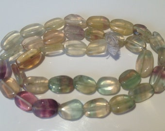 Fluorite Beads-Flourite Bead Strand-Malti colours Oval Fluorite Stone-semi Precious Stone-Finding- Bead Shop(#NJB#52)