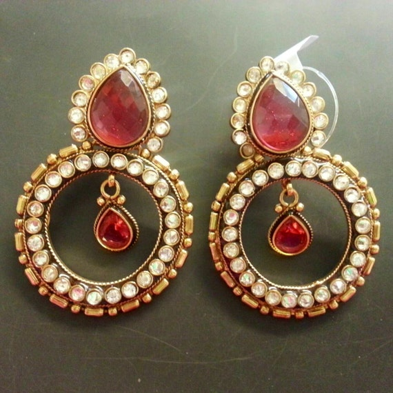 SALE 50% off Oversized Antique Earrings | Indian Jewelry | Temple Jewelry