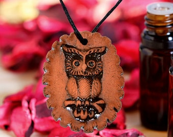 Aromatherapy pendant essential oil perfume necklace Terracotta Clay fragrance diffuser #G11
