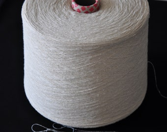 1 spool 1 kg 100 bourette silk yarn nature Nm 30/1 on paper cone 300 den