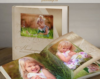 PHOTOBOOK - photo book in classic style - Photoshop Templates for Photographers. 12x12 Photo Book/Album Template