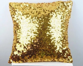 Gold sequin pillow case pillow cover