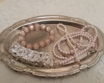 Vintage Silver Plated Dish - Wedding Decor - Silver Decor - Bridesmaid's gifts - Candy Dish - Change Dish - Jewelry Dish