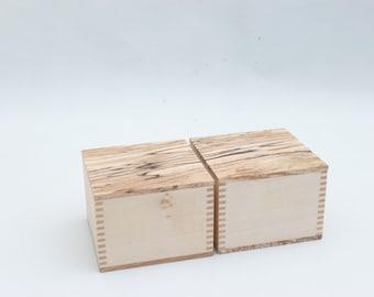 Spalted Beech and Lime trinket box, jewellery box, keepsake